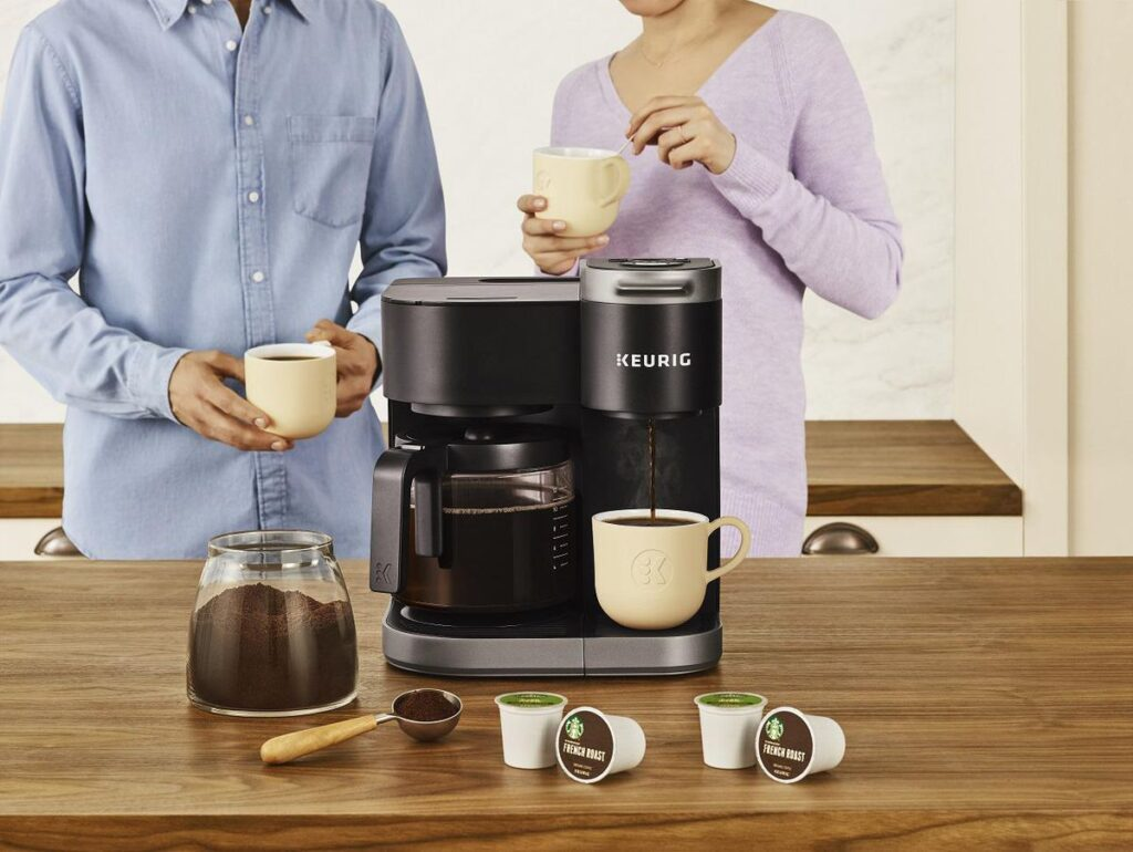 coffee maker Serving size options